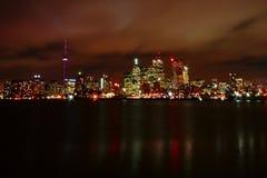 Nacht von Toronto Stockfotografie
