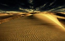 Nacht in woestijn Stock Afbeelding