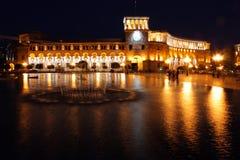 Nacht Yerevan Stockbild