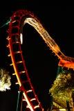 NachtAchterbahn Lizenzfreie Stockfotografie