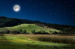 Nachtachtergrond Stock Foto