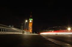 Nachtanblick von London Lizenzfreie Stockfotografie