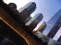 Nachtansicht über 9/11 Denkmal, USA Lizenzfreies Stockbild