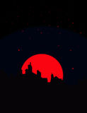Nachtansicht Stockbild