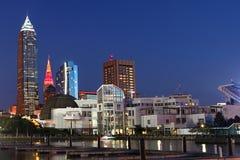 Nachtansicht in Cleveland, Ohio Stockfotos