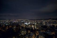 Nachtansicht der alten Stadt von Tiflis Tiflis ist die größte Stadt von Georgia und liegt auf den Banken von Mtkvari-Fluss Stockfoto