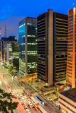 Nachtansicht der berühmten Paulista-Allee stockbild