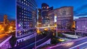 Nachtansicht der La-Verteidigung quartier Lizenzfreies Stockbild