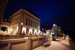 Nachtansicht der richterlichen Stadt, Hochebenen-St. Espirit Stockfotos