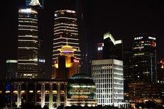 Nachtansicht der Shanghai-lujiazui Finanz- und Handelszoneskyline Stockfotografie