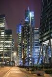 Nachtansicht der Stadt von London Lizenzfreies Stockfoto