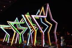 Nachtansicht der Stern-Dekoration Lizenzfreies Stockbild
