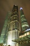 Nachtansicht des SHANGHAIS, CHINA stockfotos