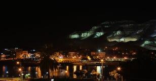 Nachtansicht des Tales der Könige Stockfotos