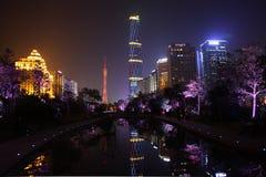 Nachtansicht des Tianhe Lizenzfreies Stockfoto