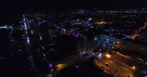 Nachtansicht Ozean-Antrieb Südstrand, Miami Beach, Florida USA stock video footage