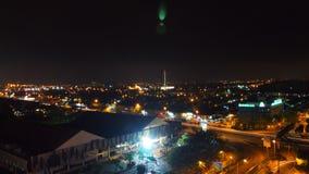 Nachtansicht am Perling Johor lizenzfreies stockbild