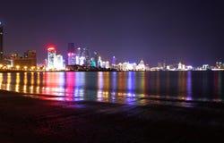 Nachtansicht in Qingdao Stockbild
