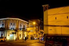Nachtansicht in Richtung zum Gebirgsla Paz Bolivia stockfoto