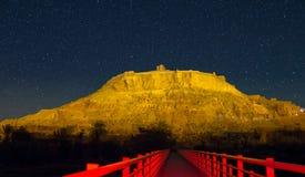 Nachtansicht von Ait Ben Haddou, Marokko Stockbild