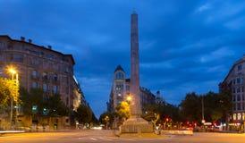 Nachtansicht von Barcelona Stockbilder