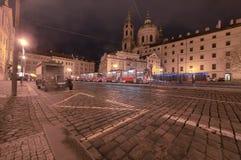 Nachtansicht von Budapest Stockfotografie