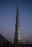 Nachtansicht von Burj Khalifa in Dubai, UAE Lizenzfreies Stockfoto
