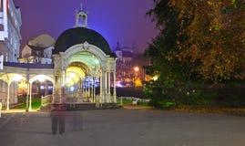 Nachtansicht von Carlsbad stockbild
