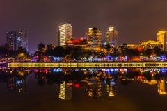 Nachtansicht von Chengdu Lizenzfreies Stockfoto