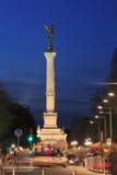 Nachtansicht von Colonnes DES Girondins, Bordeaux Lizenzfreie Stockfotos