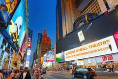 Nachtansicht von den Zeiten Quadrat-zentral und Hauptplatz von New York lizenzfreies stockfoto