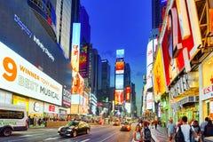 Nachtansicht von den Zeiten Quadrat-zentral und Hauptplatz von New York stockfoto