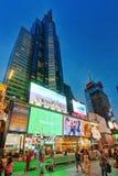 Nachtansicht von den Zeiten Quadrat-zentral und Hauptplatz von New York stockbilder
