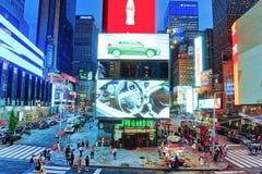 Nachtansicht von den Zeiten Quadrat-zentral und Hauptplatz von New York stockfotos