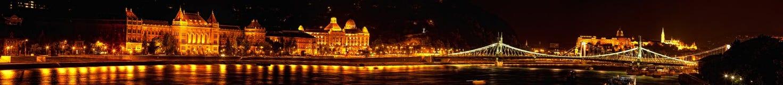 Nachtansicht von Donau lizenzfreies stockbild