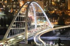 Nachtansicht von Edmonton Alberta stockfotografie