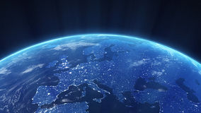 Nachtansicht von Europa Stockfoto