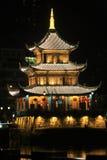 Nachtansicht von Jia Xiulou in China Lizenzfreie Stockfotos