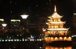 Nachtansicht von Jia Xiulou in China Lizenzfreies Stockfoto