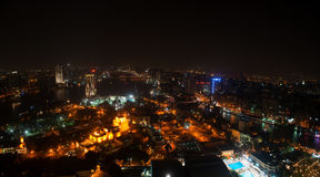 Nachtansicht von Kairo von Kairo-Turm Lizenzfreie Stockfotografie