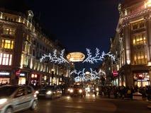 Nachtansicht von London am Weihnachten Stockfoto