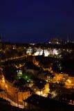Nachtansicht von Luxemburg mit Straßenlaterne Lizenzfreie Stockfotografie