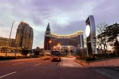 Nachtansicht von Macao, China Stockfotos