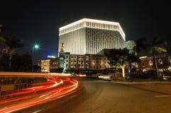Nachtansicht von Macao, China Stockbild