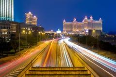 Nachtansicht von Macau stockfotografie