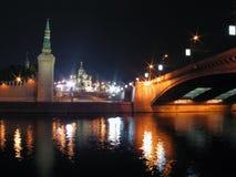 Nachtansicht von Moskau. Stockbilder
