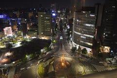 Nachtansicht von Nagoya Stockfotografie
