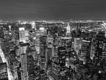 Nachtansicht von New York City Stockfoto