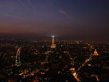 Nachtansicht von Paris Stockfotografie