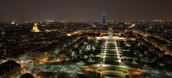 Nachtansicht von Paris Stockfoto